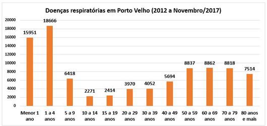 queimadas e doenças respiratórias em Porto Velho